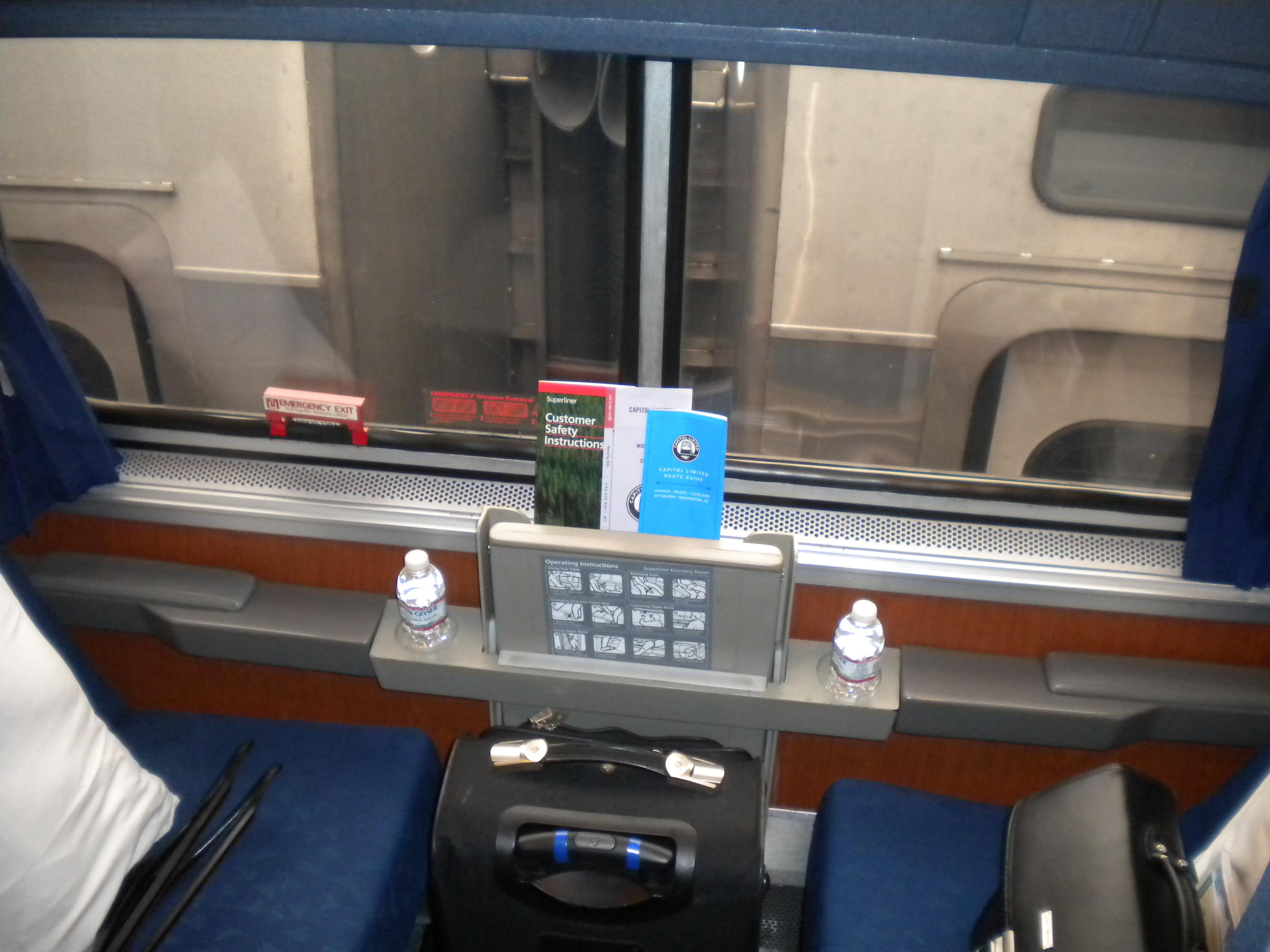 Amtrak Train Roomette Superliner Roomette Center