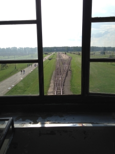 """The platform beside these tracks is where the """"Selection"""" took place.  As people disembarked from the train, they were divided into two groups, those who could work--and would go on to endure a living hell--and those who were immediately sent to the gas chambers.  Families said goodbye on this platform, never to see each other again."""