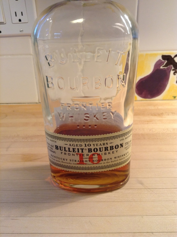Bourbon with apples is a great flavor combination.  See safety note below about cooking with liquor.