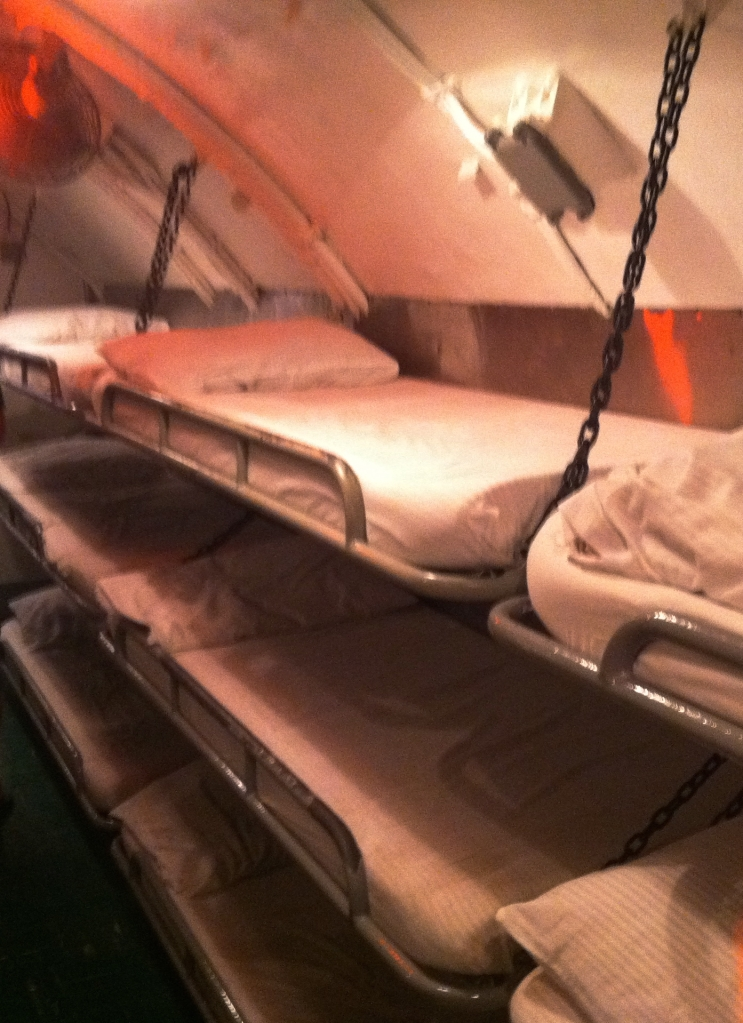 Bunks aboard the submarine USS Bowfin