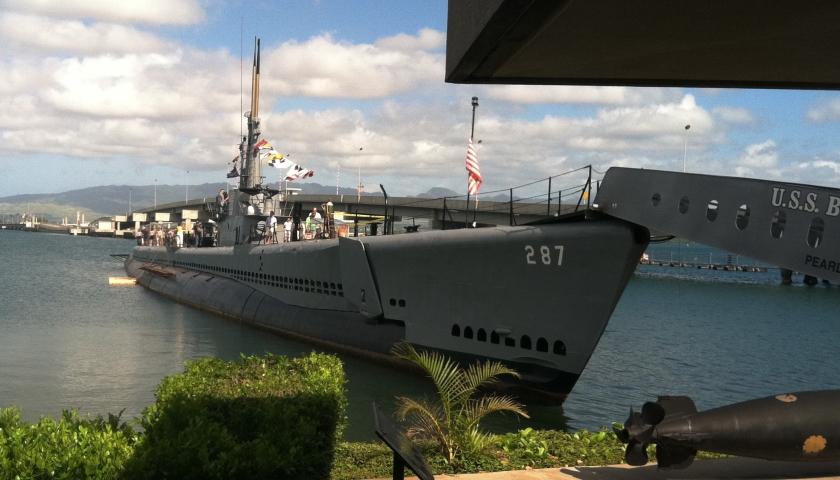 The submarine USS Bowfin