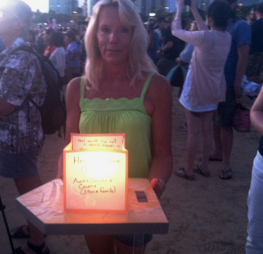 Lanterns were personalized with prayers and messages for loved ones.
