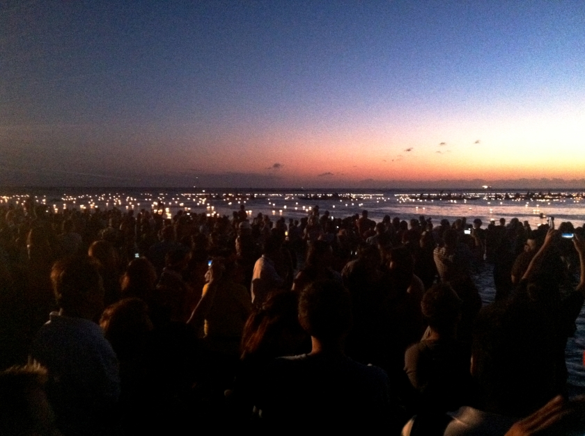 In the end, 3,000 lanterns bearing messages to the departed floated out to sea.
